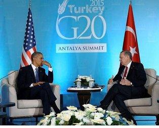 Erdoğan ve Obamadan kritik görüşme
