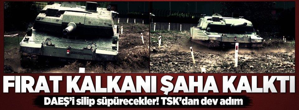 Tank birlikleri Suriyeye girdi!