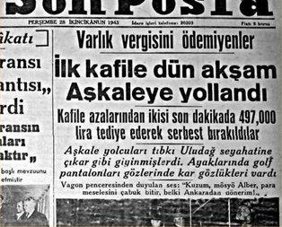 CHPden Gayrimüslimlere Varlık Vergisi zulmü!