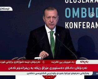 Kuzey Iraktaki kanallar Erdoğanın konuşmasını canlı yayınladı