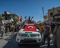 Özgürlüğüne kavuşan Cerablus halkı PYDyi protesto etti