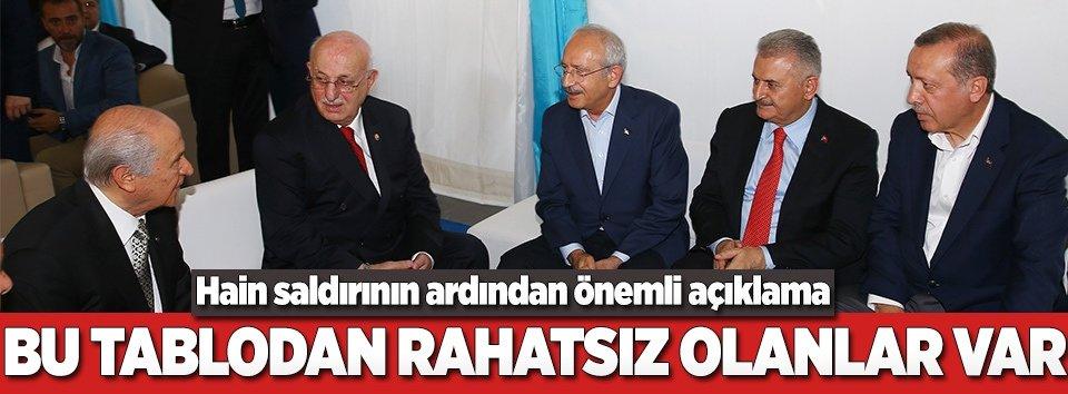 Türkiyedeki tablodan rahatsız olanlar var