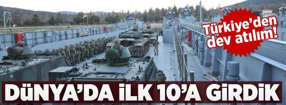 Türkiye dünyanın ilk 10 ülkesi arasına girdi