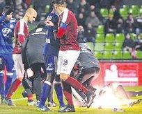 Kaleci yaralandı maç tatil edildi