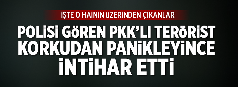 Polisi gören PKKlı terörist intihar etti