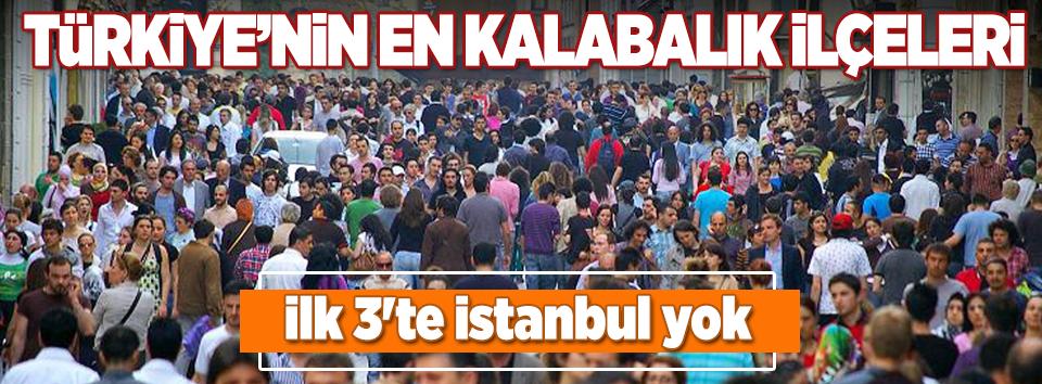 Türkiyenin en kalabalık ilçeleri