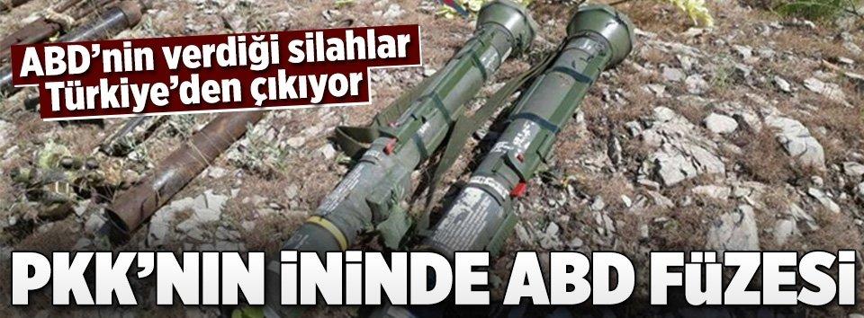 PKK operasyonunda 2 adet ABD tank füzesi ele geçirildi