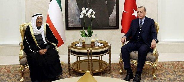 Cumhurbaşkanı Erdoğandan Kuveyt Emirine jest