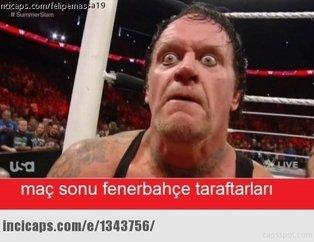 Fenerbahçe - Trabzonspor maçı capsleri