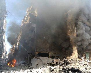 Şam şeytanı Esad yerleşim yerine saldırdı
