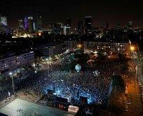 Binlerce İsrailli sokaklara döküldü