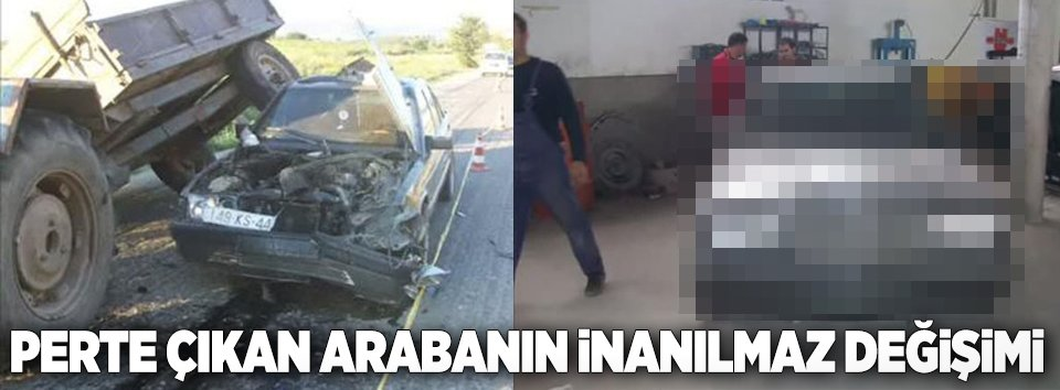 Kaza yapan araçların inanılmaz değişimi
