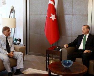 Cumhurbaşkanı Erdoğan Şahbaz Şerifi kabul etti