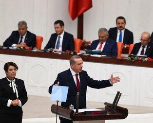 Cumhurbaşkanı Erdoğandan tarihi konuşma