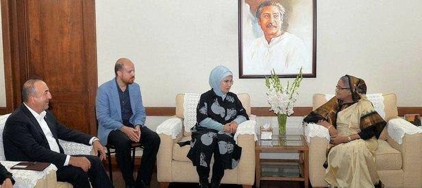 Emine Erdoğan, Bangladeş Başbakanı ile görüştü