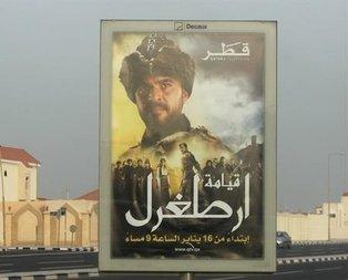 Katar sokaklarına Diriliş Ertuğrul'un afişleri