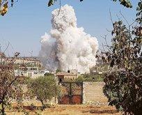 İdlibdeki hava saldırıları şiddetlendi