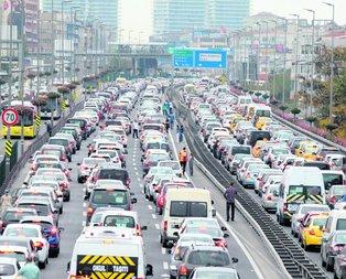 Büyük şehirlerde trafik vakti