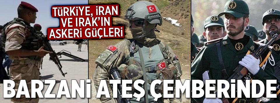 Türkiye, Irak ve İranın askeri güçleri