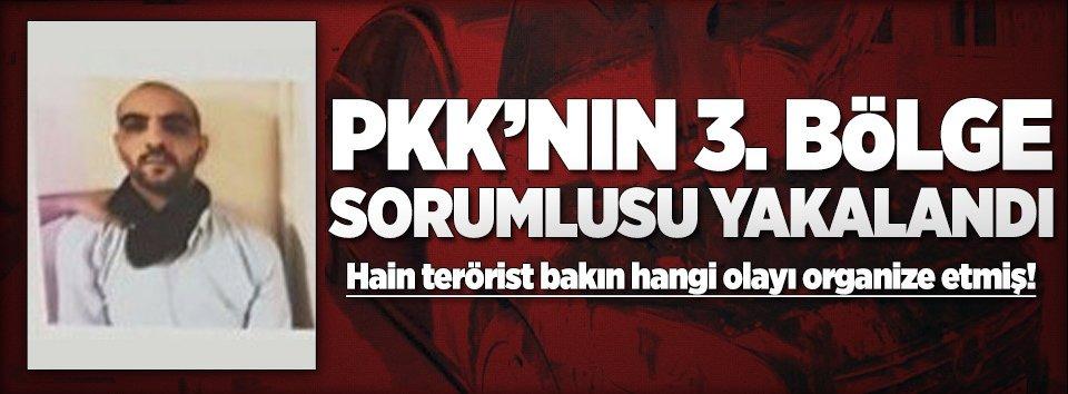 PKKnın 3. bölge sorumlusu yakalandı!