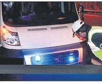 'Çakar lamba'ya 192 lira ceza