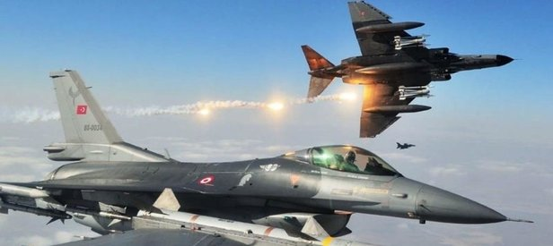 TSK Kuzey Irakta hainlere bomba yağdırdı