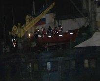 İstanbulda fırtına! Rus gemisi karaya oturdu
