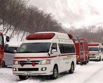 Japonya'da çığ felaketi
