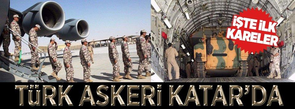 Türk askeri Katara giriş yaptı