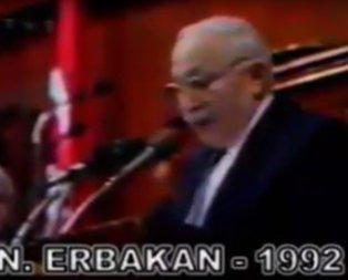 Rahmetli Erbakan 25 yıl önce söylemişti