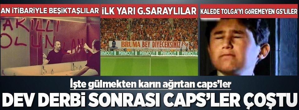 İşte Beşiktaş-G.Saray derbisi capsleri