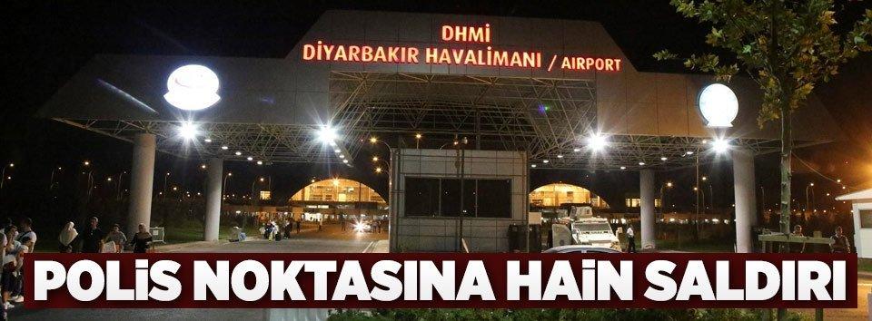 Diyarbakır Havalimanında polise roketli saldırı