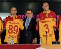 Galatasarayda yeni transferler basına tanıtıldı