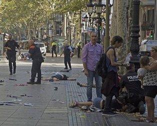 Barcelona saldırısında dehşet görüntüler