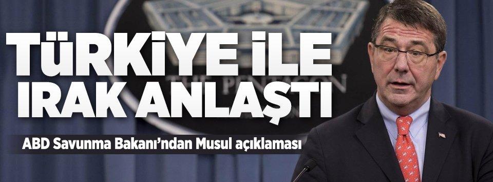 Carter: Türkiye ve Irak prensipte anlaştı