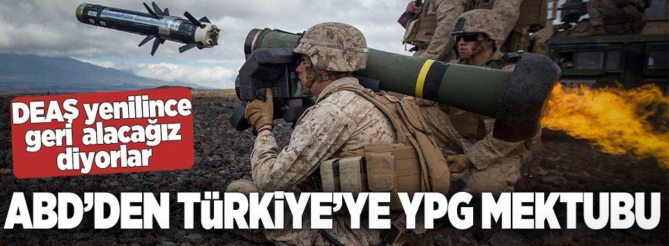 ABDden Türkiyeye YPG mektubu