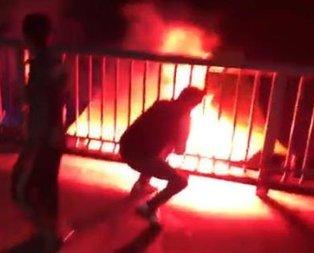 Fener bayrağını yaktılar