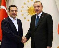Cumhurbaşkanı Erdoğan Çipras'la görüştü